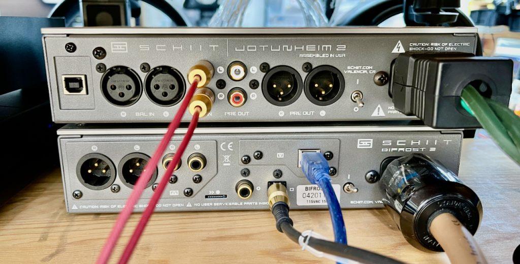 Schiit Audio Jotunheim 2 and Bifrost rear