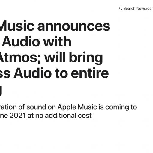 Apple Music announcement